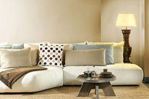 Bàn Ghế Sofa Màu Trắng