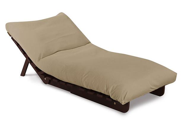 Sofa Giường Futon đơn với nệm màu xám