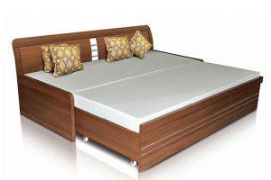 Sofa giường trượt Geno với màu nâu Mỹ