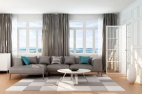 Thay vỏ ghế và gối tựa để làm mới bộ sofa