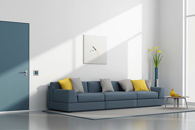 Vị trí đặt và rèm treo cửa là 2 cách tốt để bảo vệ bộ sofa nhà bạn khỏi ánh sáng mặt trời