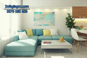 Màu sắc sofa nhẹ nhàng sẽ làm bừng sáng không gian nhỏ nhà bạn