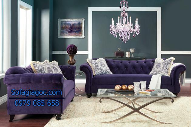 Sofa màu tím hợp với người mệnh hỏa