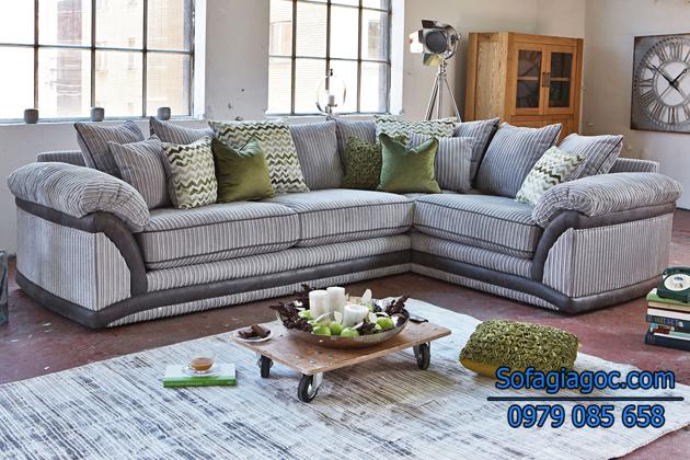 Sofa phòng khách được làm từ các chất liệu cao cấp bền đẹp