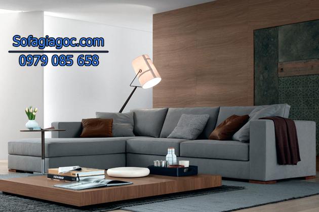 Sofa góc phòng khách hiện đại kiểu dáng sang trọng