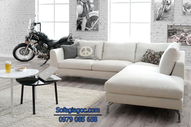 Sofa góc phòng khách rút ngắn khoảng cách tạo cảm giác gần gũi