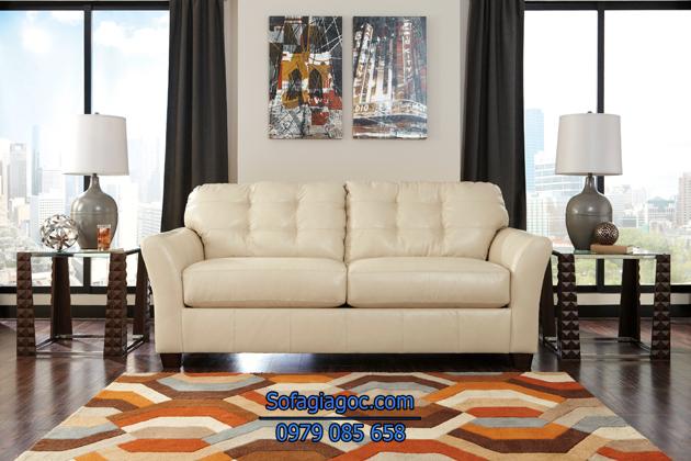 Sofa mau trắng kem nhẹ nhàng tinh tế