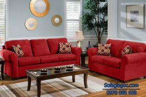 Sofa sắc đỏ nổi bật và quyến rũ