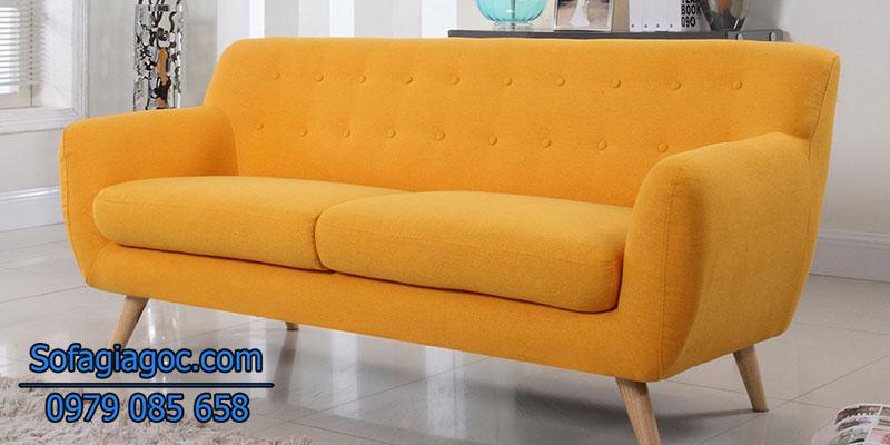 Sofa Văng Rafael Style Vàng Cam