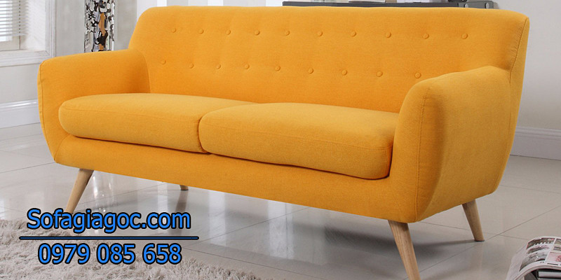 Sofa Văng Style Rafael Vàng Cam
