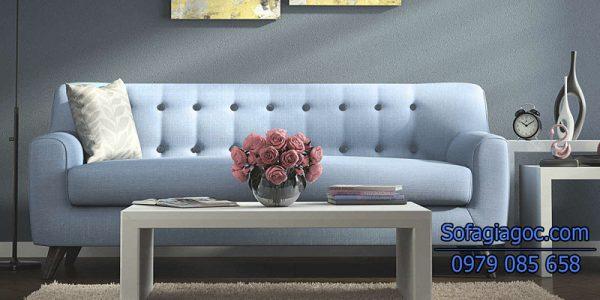Sofa Văng Style San Bruno Xanh Ngọc