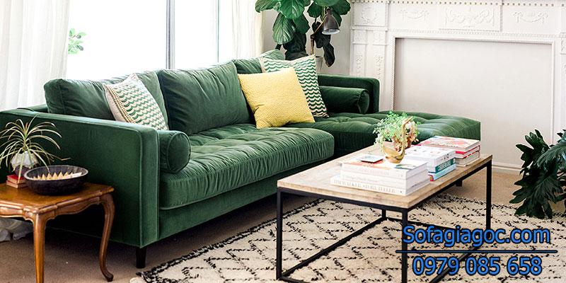 Sofa màu xanh lá sự lụa chọn tuyệt vời nhất cho người mệnh hỏa
