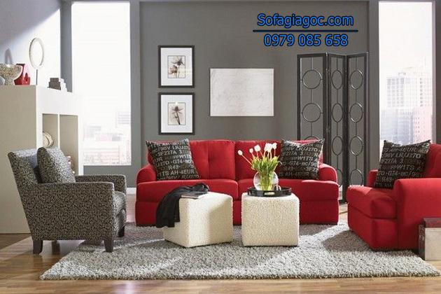 Sự kết hợp hoàn hảo giữa 2 tông màu nóng lạnh - đỏ và sám
