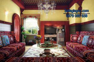 Sự lịch lãm và tinh tế tuyệt vời với sofa đỏ chữ u