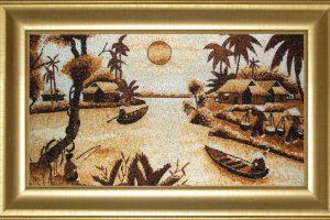 tranh gạo quà tặng người nước ngoài