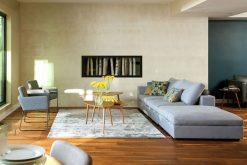 Sofa Phòng Khách Style Cube Gracier Xanh Nhạt