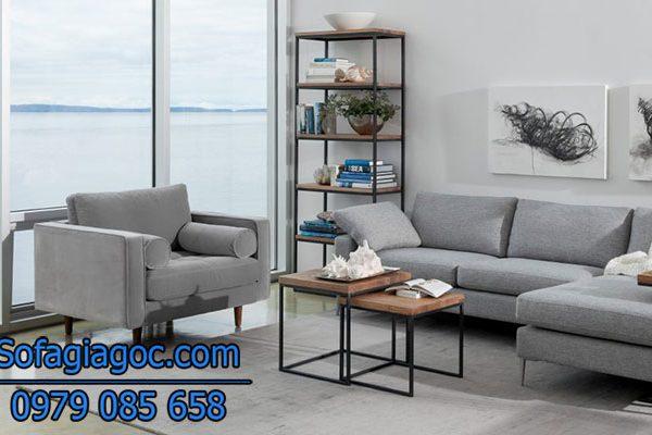 Sofa Phòng Khách Style Nova Xám Tro