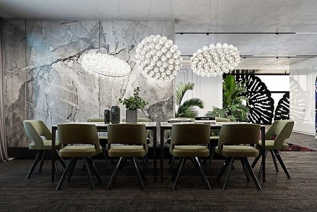 Mẫu bàn ăn đẹp 10 ghế phong cách hiện đại