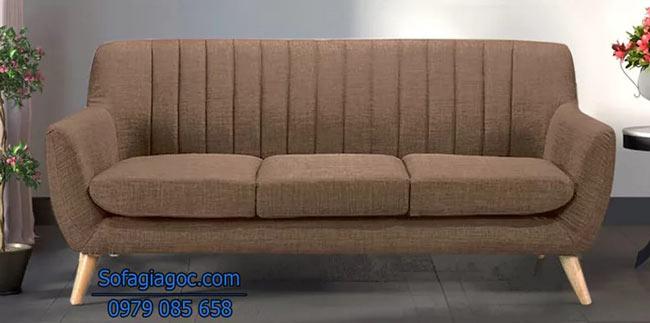 Ghế sofa văng Style Aalias màu nâu