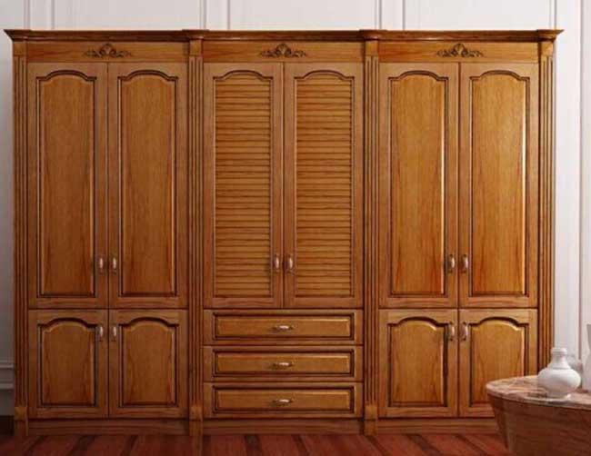 Tủ quần áo bằng gỗ tự nhiên Mẫu 2
