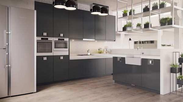 Thiết Kế Phòng Bếp Với Hai Tông Màu đen Trắng