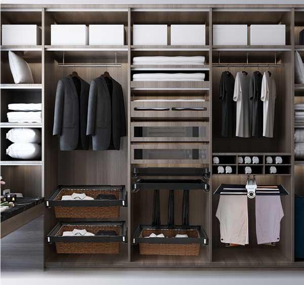Thiết kế tủ quần áo thông minh hiện đại