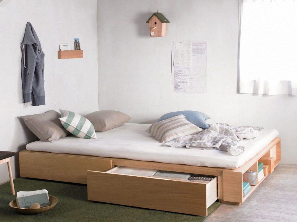 Tủ quần áo kết hợp với giường ngủ thông minh sáng tạo