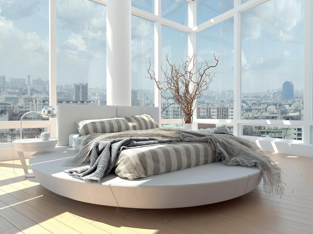 Thiết kế độc đáo cho phòng ngủ của bạn với chiếc giường tròn xinh xắn