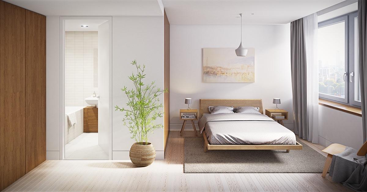 Thiết kế phòng ngủ sang trọng, thanh lịch với gam màu trắng