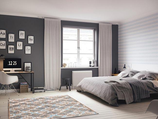 phòng ngủ master đẹp hiện đại kiểu Mỹ