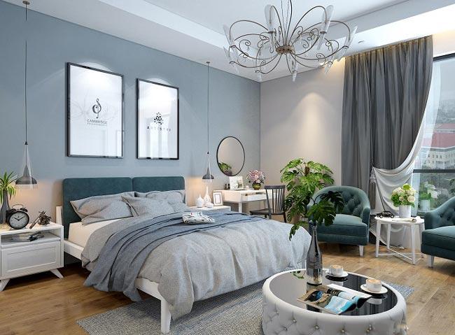 phòng ngủ master không gian xanh gần gũi với thiên nhiên