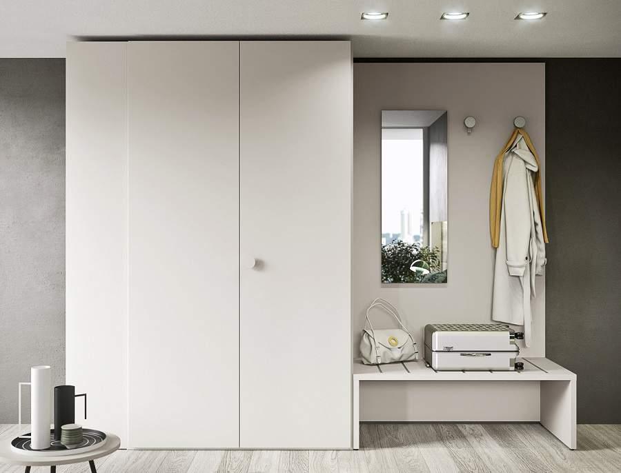 Mẫu tủ quần áo kết hợp bàn trang điểm tiết kiệm diện tích