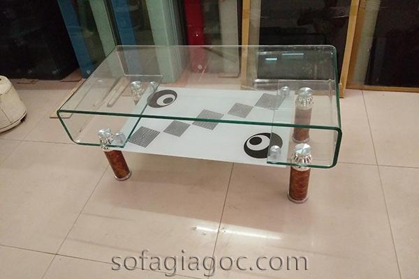 Bàn Sofa Kính Tay Cong Bts 052