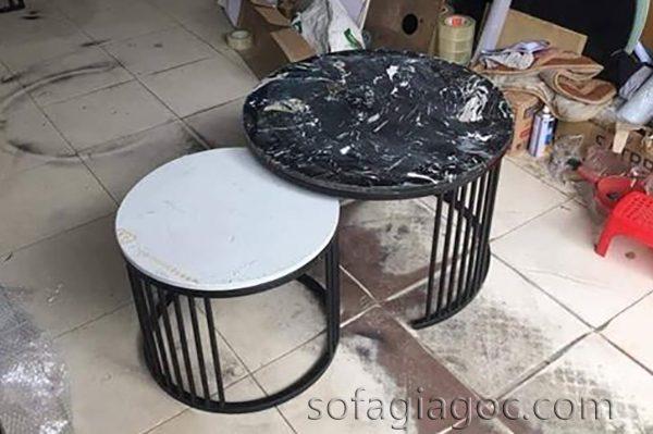 Bàn Sofa Tròn Đôi Mặt Đá Bts 046 1.jpg