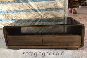 Bàn Trà Gỗ Sồi Chân Thấp Màu Óc Chó Bts 090 1.jpg