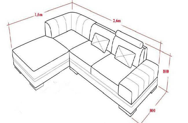 Kích Thước Sofa Góc L Phù Hợp Với Không Gian Nhỏ