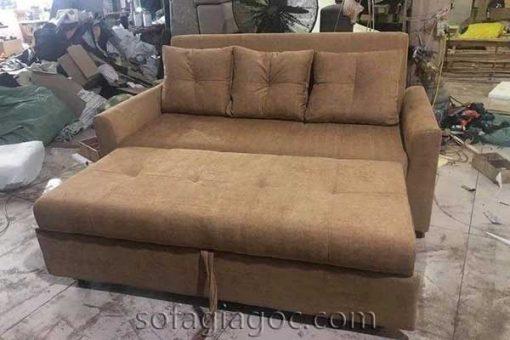 Sofa Giường Nâu Mở Chân Sfg 103