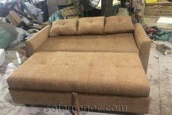 Sofa Giường Nâu Mở Toàn Bộ Sfg 103